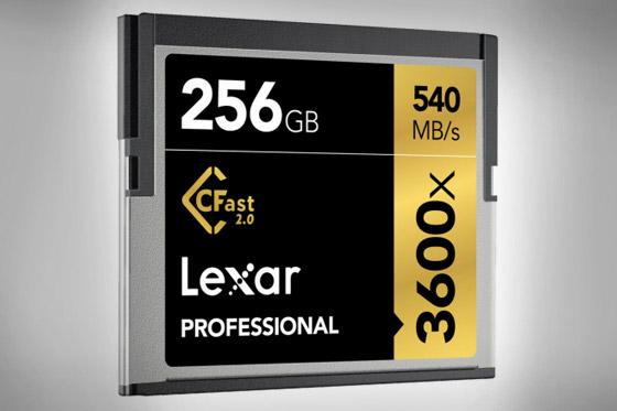 Lexar 3600x Professional CFast 2.0 card warning from ARRI