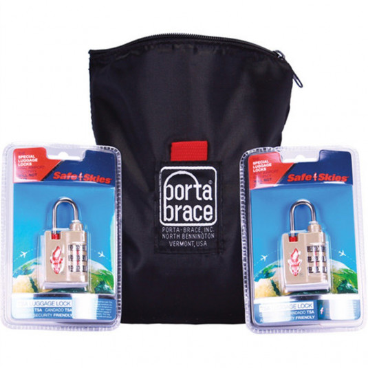 PORTABRACE TSA-SET 2 - TSA Locks & 1 - CS-B9 Pouc