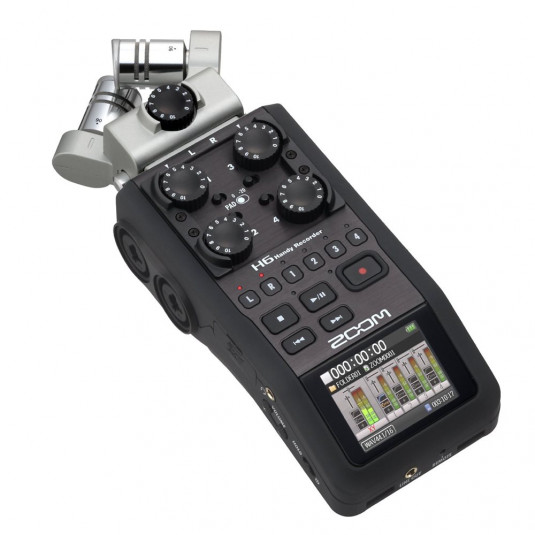 ZOOM UK H6 Zoom H6 Handy Recorder with Interchangeable Microphone Capsules