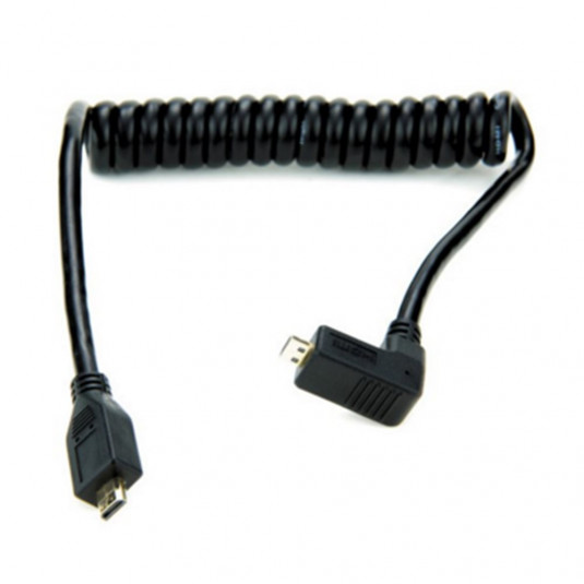 ATOMOS AO-ATOMCAB005 Atomos coiled right-angle micro HDMI to micro HDMI cable (30-45cm)