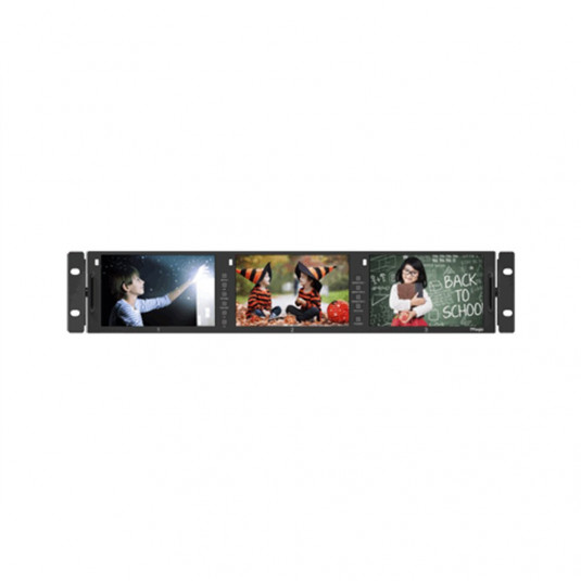 "TV LOGIC RKM-356A 3 x 5.6"" LCD 2RU Multi-Channel"