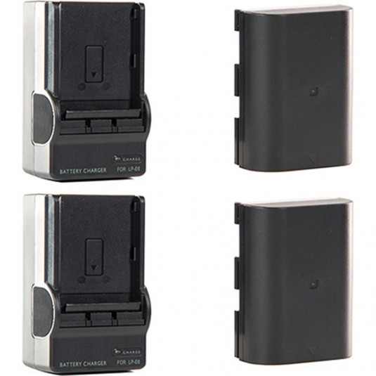 SHAPE GBLPTS SHAPE Shill LP-E6 Li-Ion Battery Pack and Charger Kit (2-Pack)