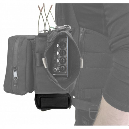 PORTABRACE ATV-BAT Audio Tactical Vest | Battery Pouch Only | Black