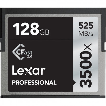 LEXAR LC128CRBEU3500 Lexar 128GB CFast 2.0 Card 3500x (525MB/s)