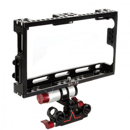 SHAPE SHOROD Atomos Shogun Cage + Adjustable 15mm Rod Monitor Bracket