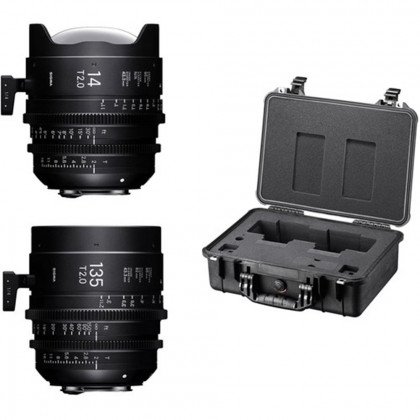 SIGMA WFW966 Sigma 14mm T2 + 135mm T2 + PMC-003 Fully Luminous CANON
