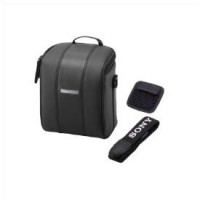 Black leather carrying case-DSC-H10