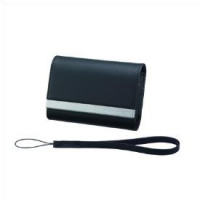 Black leather carrying case -DSC-T7
