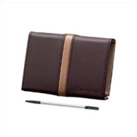 Brown Leather Case with Stylus-DSC-