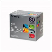 10-Pack 80min Recordable Audio CD