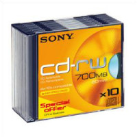80min/700MB 4-10X Speed CD-RW 10