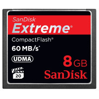 SANDISK SDCFX-008G-X46 8GB CompactFlash Extreme 60mb/