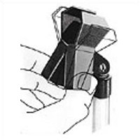 Microphone clamp for shaft 19 - 32