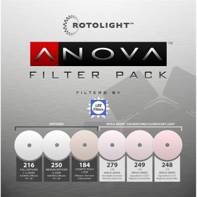 Replacement 6 piece filter pack for Rotolight ANOVA