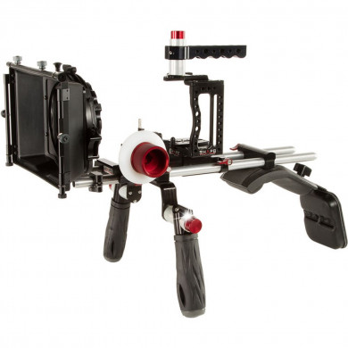 SHAPE XC10SMKIT XC10 Camera Cage, Shoulder Mount, Mattebox, and Follow Focus Kit