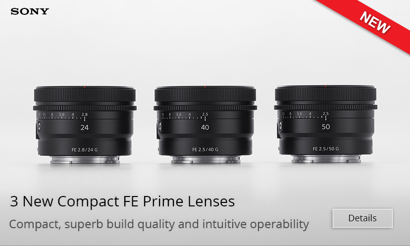New Sony FE Compact Lenses